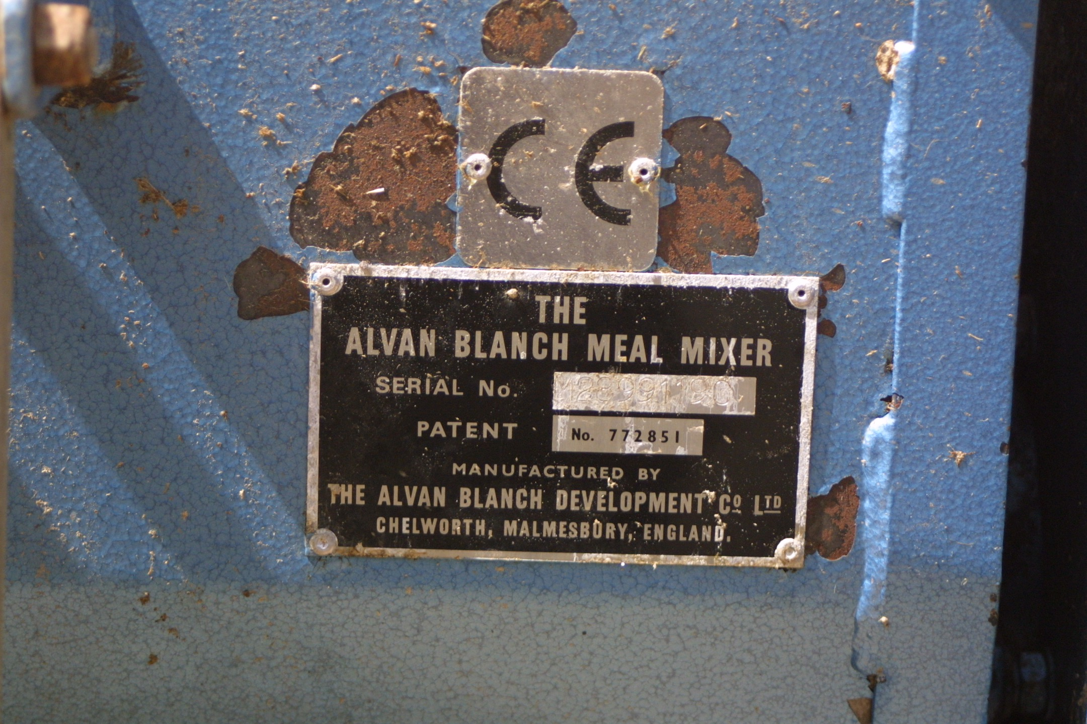 For Sale - Alvan Blanch Half-Tonne Meal Mixer