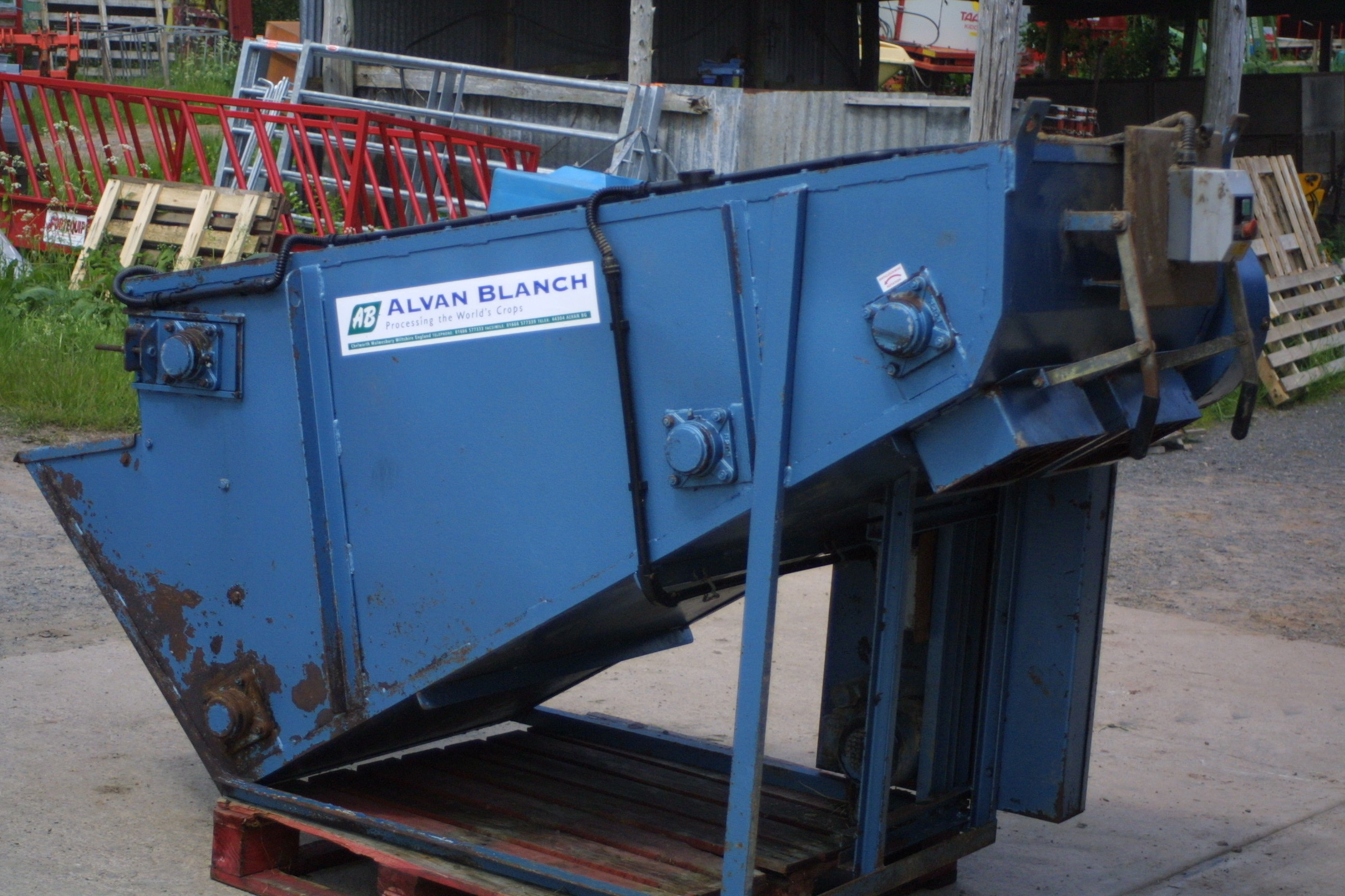 For Sale - Used Alvan Blanch Half-Tonne Meal Mixer Single-phase electrics c/w bagging off chute