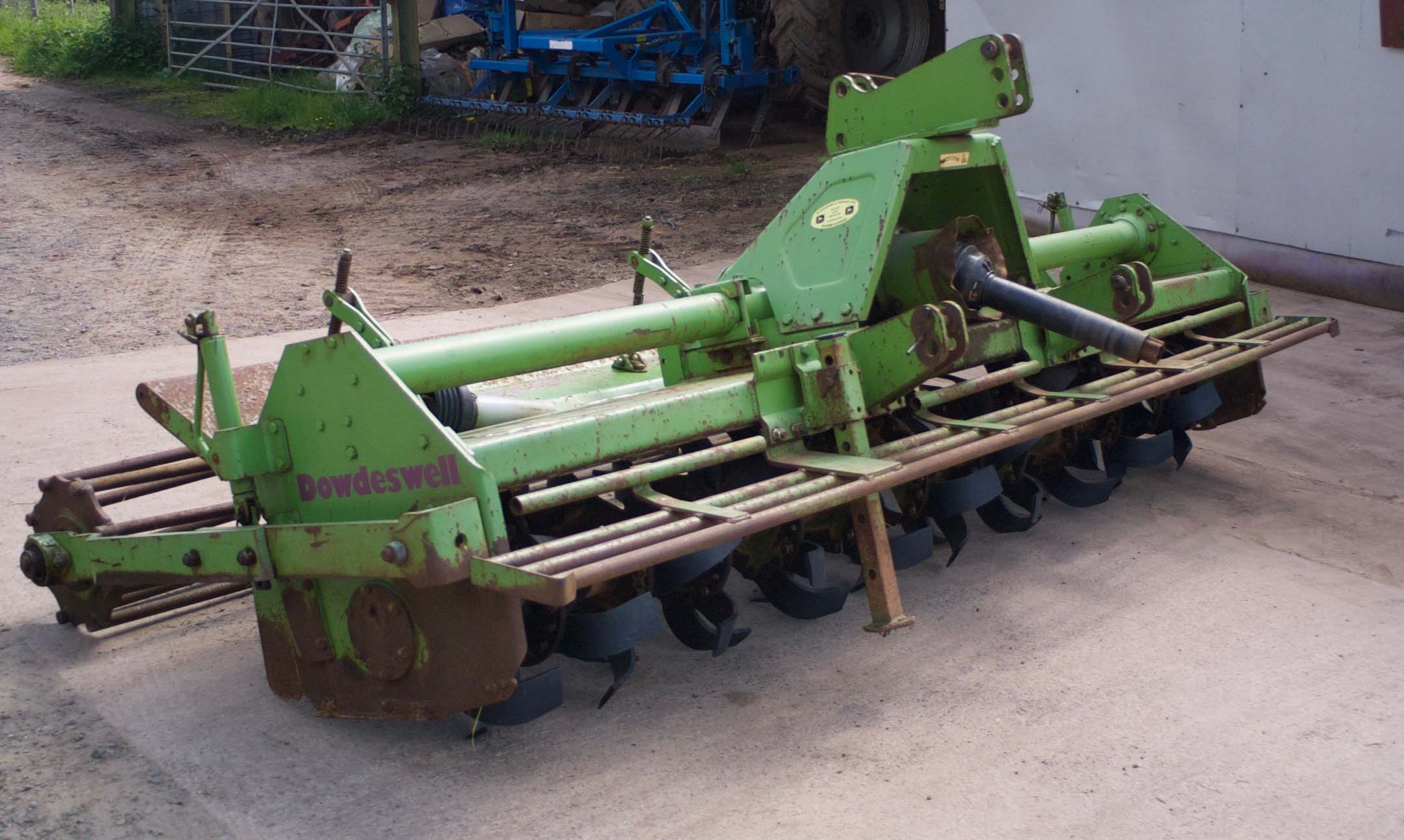 Dowdeswell Rotavator 130 c/w cage roller, new blades. 3.3m working width