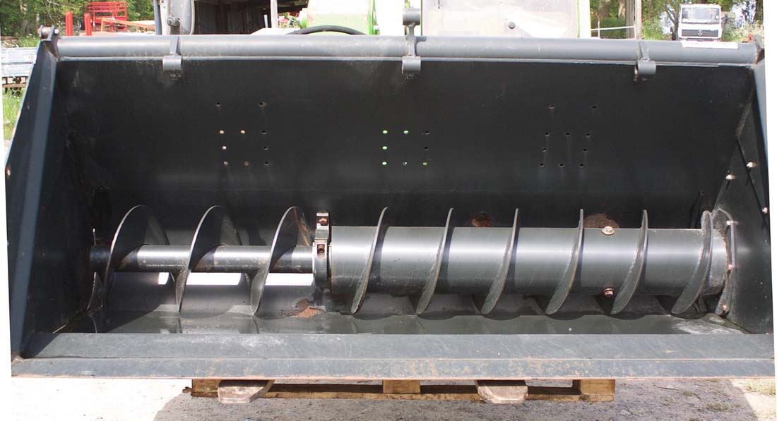 For Sale - Used MX Chilton Cereal Auger Bucket c/w Euro brackets, pipes and hydraulic door.