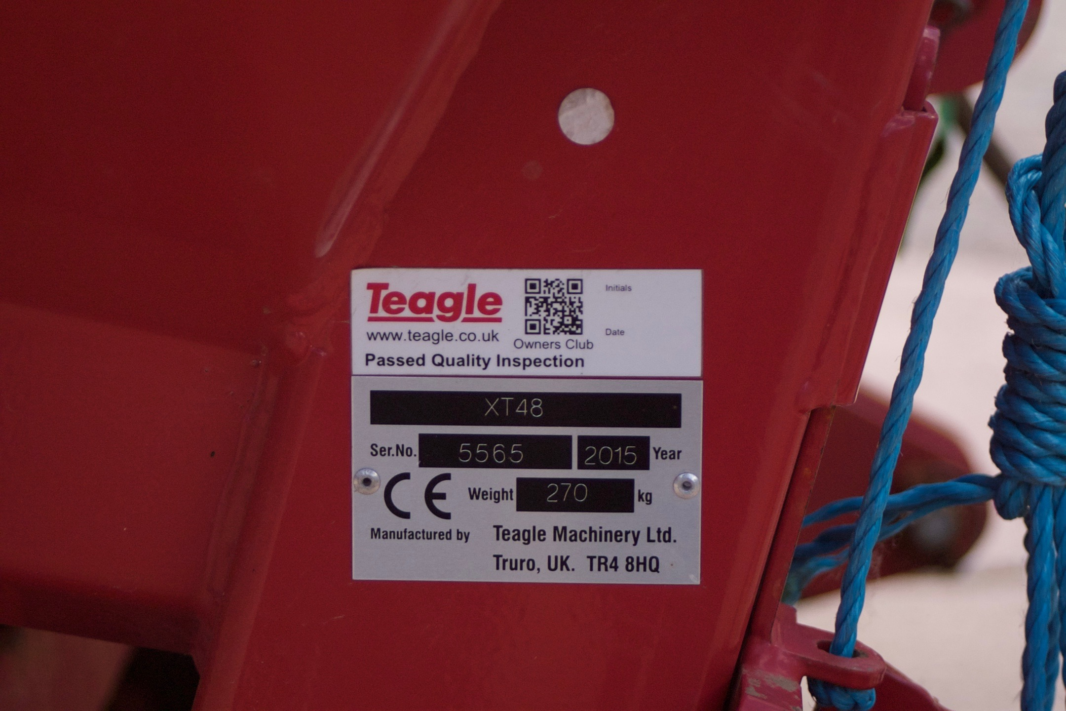 For Sale Teagle XT48 Fertiliser Spreader – Used